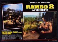 T111 FOTOBUSTA RAMBO II RACHE SYLVESTER STALLONE RICHARD CRENNA KRIEG