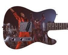 Michael Jackson Autographed Signed Custom Graphics Guitar