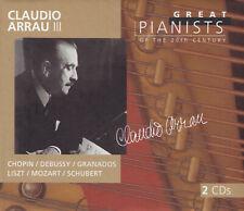 CLAUDIO ARRAU III - 2 CD - CHOPIN / DEBUSSY / GRANADOS / LISZT/ MOZART/ SCHUBERT