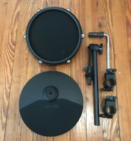 "Alesis 10"" Crash Cymbal w/Choke Tom Pad & 15"" Arm + Clamps NEW 1 Zone Nitro Drum"