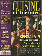 revue : CUISINE et terroirs - Automne 2000 - Spécial Vins