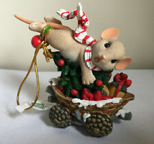 "Roman 3"" Mouse In Mushroom Caboose Charming Tails Figurine Item# 131633 Nib"