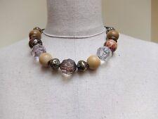 Retro / Vintage 90's Necklace with mixed beads   Boho / Hippie / Pilgrim style