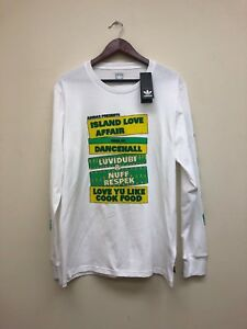 NEW MEN'S ADIDAS ISLAND LV AFTER T, CF5813, WHT/YELLOW/GRN, SIZE: LG & XL $40.00