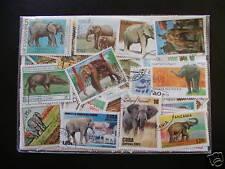 PROMOTION TIMBRES ÉLÉPHANTS : 25 TIMBRES TOUS DIFFÉRENTS / ELEPHANTS STAMPS