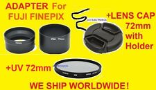 CAMERA LENS ADAPTER S3300+UV FILTER+CAP 72mm TO FUJI FINEPIX S3300HD S3400HD HD