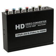 1080P Composite S-Video Ypbpr CVBS R/L Audio to HDMI Converter HDTV AV Adapter