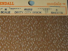 N SCALE BRICK DIRTY CITY BRICK  (3) # 8252 BY JOHN RENDALL