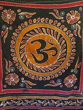 Tenture OM Batik Noir - Batik OM Bedsheet (150 x 220 CM)