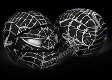 Venom Motorcycle Helmet Cover AND Visor Sticker Decal Wired Web Black Street +