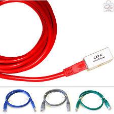 2M CAT 6 RJ45 rete Gigabit Ethernet LAN Cavo di estensione Piombo Cavo M A F