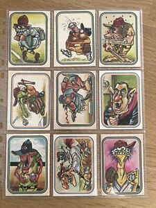 Lot of 9 Donruss 1973 Super Freaks Monster Baseball Sticker Cards