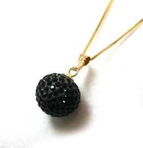 The Olivia Collection 9Ct Black Disco Ball Pendant on 18 Inch Chain