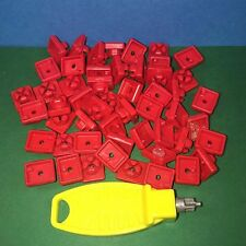 Lots de Clips (50 rouges) playmobil ref 2