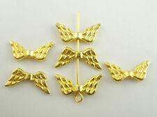 Lot 10 perle intercalaire Aile d'ange Doré 20mm x 9mm création bijoux collier