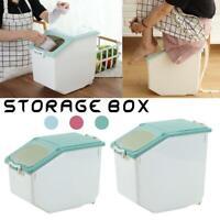 Plastic 8/10kg Rice Storage Box Household Food Flour Grain Container Case