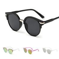 Women's Fashion Retro Designer Round Mirrored Sunglasses  Eye Glasses Eyewear
