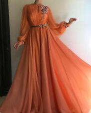 Evening Dress Chiffon Formal Gowns Long Sleeved Floral Modern Dresses For Ladies