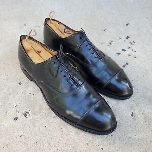 Allen Edmonds PARK AVE Black Leather Cap-Toe Oxfords sz 11.5 D MENS US