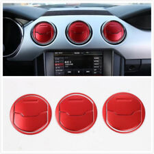 FIT For Ford Mustang 15-2018 Dashboard Air Vent Trim Cover Trim Red Accessories