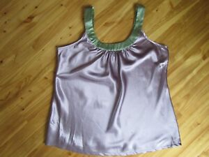 Chanteuse Intimates XL Violet/Green Poly Adjust Straps Tank Camisole NWT Cute!