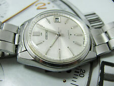 RARE SEIKO 6602 7040 DATE STAINLESS STEEL WIND UP GENTS OYSTER BRACELET.