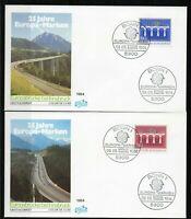 Alemania / Germany / 2 Sobres  Primer Día - FDC año 1994   Europa CEPT