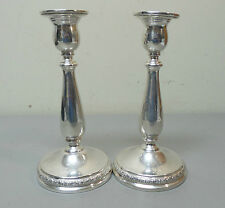 """PAIR INTERNATIONAL """"PRELUDE"""" STERLING SILVER 7.5"""" CANDLESTICKS, WEIGHTED"""