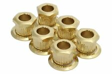 """Kluson Hex Head conversion bushings for 1/4"""" tuning posts - Gold"""