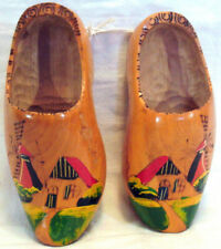 Vintage Wood Shoes From Holland Colorful Design Wall Hangers Windmills