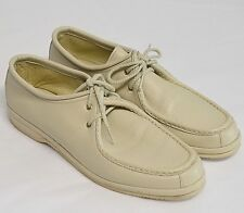 VTG Johnston & Murphy Oxford Shoes Women 9.5 N After Hours Beige Leather Retro