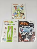 Wii Fit Balance Board Game Lot of 3 Wii Fit Plus Shaun White Snowboarding