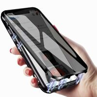 360° Magnetic Anti Spy Privacy Double Tempered Glass Phone Case for iPhone 11/12