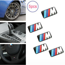 5 PCS M Wheel Sticker Logo Emblem Tech Badge For BMW M3 M5 E36 E39 E46 E90 X5