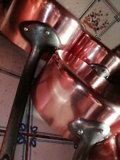 Série 5 Casseroles Cuivre Cuisine Frensh Copper  6k800 PRO Cuisine TBE