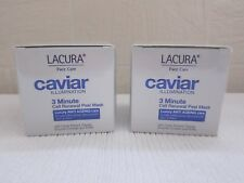 2 x lacura caviar illumination 3 minute Cell renewal Peel Mask - New - 50ml each