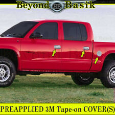 1997-2004 DODGE DAKOTA Chrome Door Handle Covers + Gas Cap No Passenger Key Hole