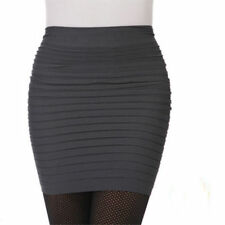 New Women's Girl's Solid Color Slim Stretchy Body-con Bandage Micro Mini Skirt