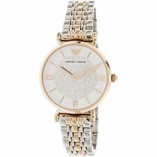 Emporio Armani AR1926 Ladies Gianni T-Bar Two Tone Steel Bracelet Watch
