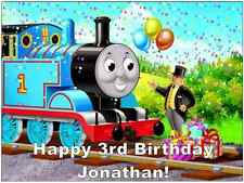 Thomas The Tank Engine A4 Personalised Cake Topper Edible Wafer Paper 7.5 By 10""