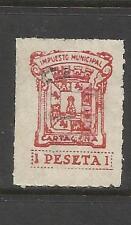1916-SELLO FISCAL LOCAL CARTAGENA IMPUESTOS 1 PESETA