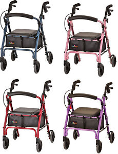 Nova GetGO Petite Foldable Rolling Mobility Walker Rollator - 4 COLOR CHOICE NEW