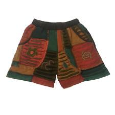 New Ladies Razor Cut Festive Hippie Shorts Size 10-12 OM