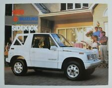 SUZUKI SIDEKICK 1990 dealer sheet brochure catalog - English - Canada