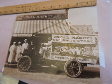 1915 IDEAL Meat Grocery Truck 8x10 reprint Gregoire Chelsea Beautiful photograph