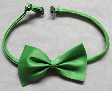 Boys Bow Tie Adjustable Bowtie UNISEX Boy Girl PEA GREEN
