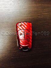 Carbon Chrom Rot Folie Schlüssel Opel Astra Corsa GTC Vauxhall Vectra Zafira VXR