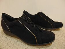 Stuart Weitzman Women's Suede Sneaker formal Lace up Pulls shoes size 10