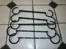 WARDROBE SPACE SAVING CLOTHES HANGERS RACK BRAND NEW -SET OF 5. BLACK