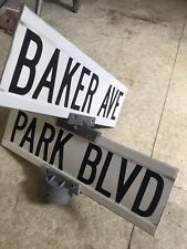 Baker Avenue Ave and Park Blvd, Wildwood NJ Authentic Vintage Street Sign